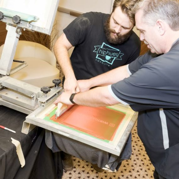 Screen printing... Hatch Show Style